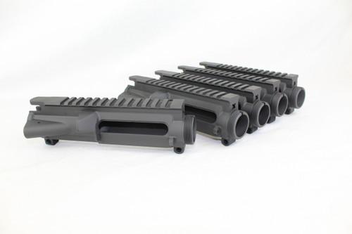 ZAVIAR BLACK CERAKOTED MIL-SPEC AR15 5 PACK STRIPPED UPPER RECEIVER SET