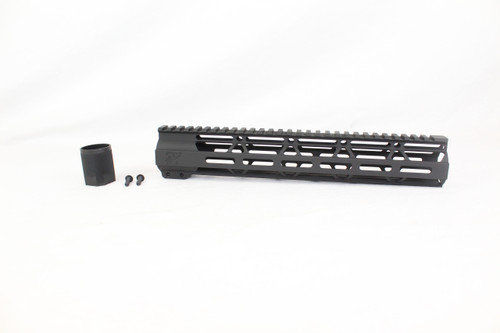 "ZAVIAR BLACK CERAKOTED 12"" MLOK Free-Float Handguard AR-15"