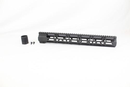"ZAVIAR BLACK CERAKOTED 15"" MLOK Free-Float Handguard AR-15"