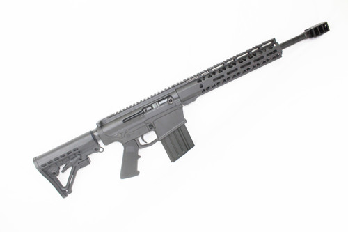 "AR-10 16 ""NITRIDE CUSTOM RIGHT HANDED SIDE-CHARGING .308 WIN COMPLETE RIFLE / BARRETT STYLE MUZZLE DEVICE / 10"" MLOK HANDGUARD"