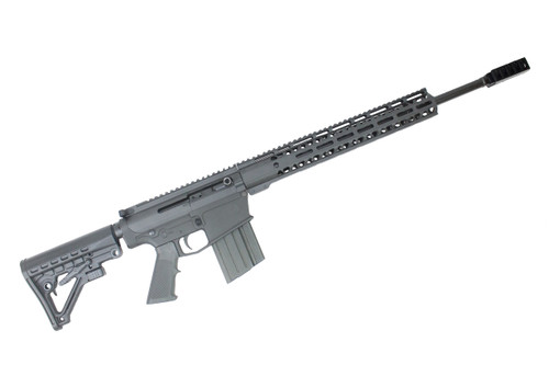 "AR-10 20 ""NITRIDE CUSTOM RIGHT HANDED SIDE-CHARGING .308 WIN COMPLETE RIFLE / BARRETT STYLE MUZZLE DEVICE / 15"" MLOK HANDGUARD"