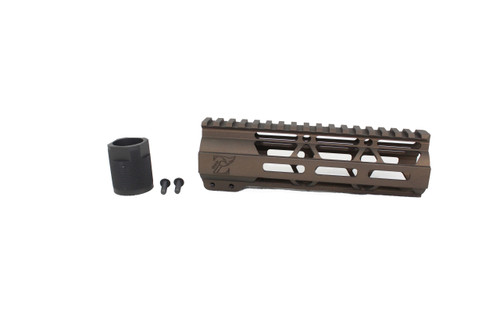 "ZAVIAR MIDNIGHT BRONZE CERAKOTED 7"" MLOK Free-Float Handguard AR-15"