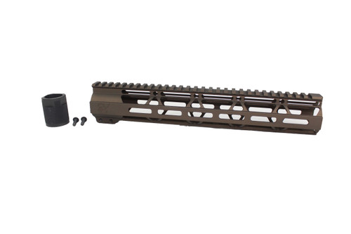 "ZAVIAR MIDNIGHT BRONZE CERAKOTED 12"" MLOK Free-Float Handguard AR-15"