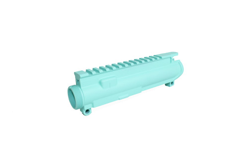 ZAVIAR ROBIN'S EGG BLUE CERAKOTED MIL-SPEC AR9/AR22 STRIPPED UPPER RECEIVER