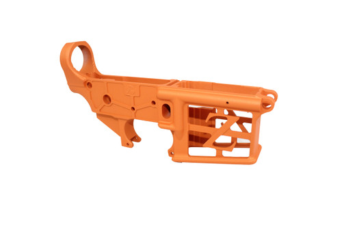 ZAVIAR TEQUILA SUNRISE CERAKOTED SKELETONIZED MIL-SPEC AR15 Stripped Lower Receiver