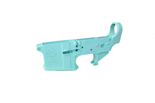 Zaviar ROBINS EGG CERAKOTED MIL-SPEC AR15 Stripped Lower Receiver