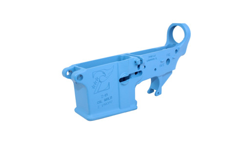 Zaviar SEA BLUE CERAKOTED MIL-SPEC AR15 Stripped Lower Receiver