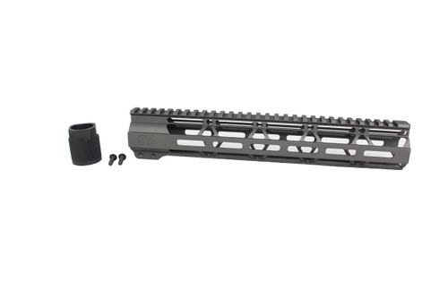 "ZAVIAR TUNGSTEN GREY CERAKOTED 12"" MLOK Free-Float Handguard AR-15"