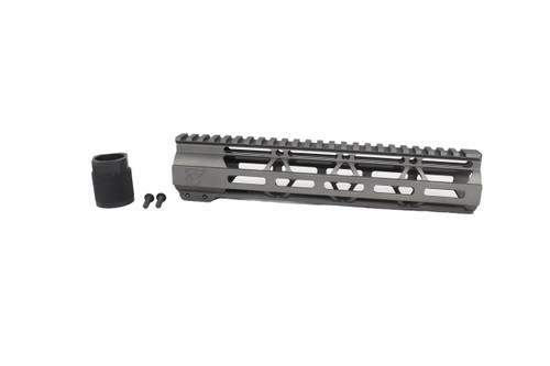 "ZAVIAR TUNGSTEN GREY CERAKOTED 10"" MLOK Free-Float Handguard AR-15"