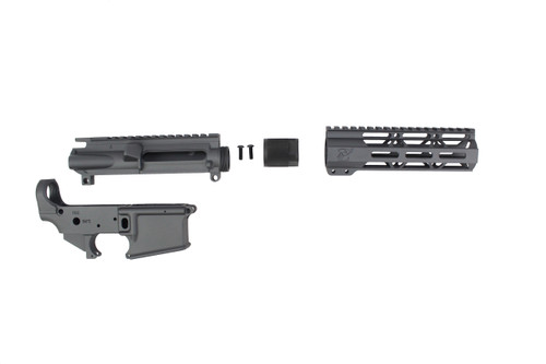 "Sniper Grey CERAKOTE SET - UPPER RECEIVER / STRIPPED LOWER RECEIVER / 7"" MLOK HANDGUARD"