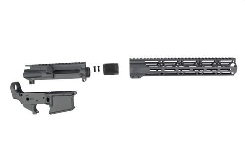 "Sniper Grey CERAKOTE SET - UPPER RECEIVER / STRIPPED LOWER RECEIVER / 12"" MLOK HANDGUARD"