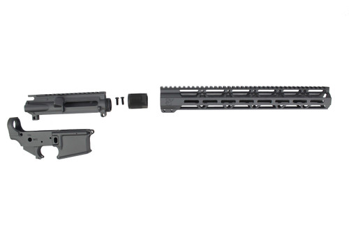 "Sniper Grey CERAKOTE SET - UPPER RECEIVER / STRIPPED LOWER RECEIVER / 15"" MLOK HANDGUARD"
