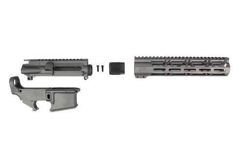 "TUNGSTEN GREY CERAKOTE SET - UPPER RECEIVER / 80% LOWER RECEIVER / 10"" MLOK HANDGUARD"