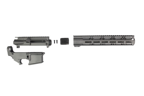 "TUNGSTEN GREY CERAKOTE SET - UPPER RECEIVER / 80% LOWER RECEIVER / 12"" MLOK HANDGUARD"