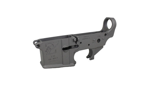 Zaviar TUNGSTEN GREY CERAKOTED MIL-SPEC AR15 Stripped Lower Receiver