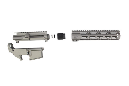 "STAINLESS STEEL CERAKOTE SET - UPPER RECEIVER / 80% LOWER RECEIVER / 7"" MLOK HANDGUARD"