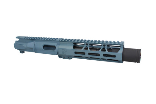 "Z9 'Stinger PDW' 9mm Assembled Upper Receiver Titanium Blue | 5.5"" Barrel 
