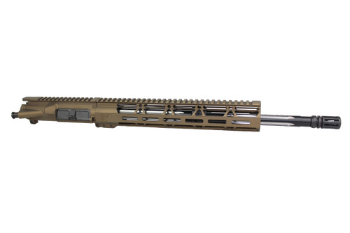 "ZAVIAR 16"" .223 WYLDE BLACK WOLF BURNT BRONZE UPPER RECEIVER / 1:8 TWIST / 12"" MLOK HANDGUARD"