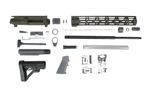 "Zaviar (MAGPUL OD GREEN) 6.5 Grendel SA16 'Grendel' Series 20"" HBAR 1:8 Nitride Rifle Builder Kit with Predator Stock Kit 15"" MLOK Handguard"