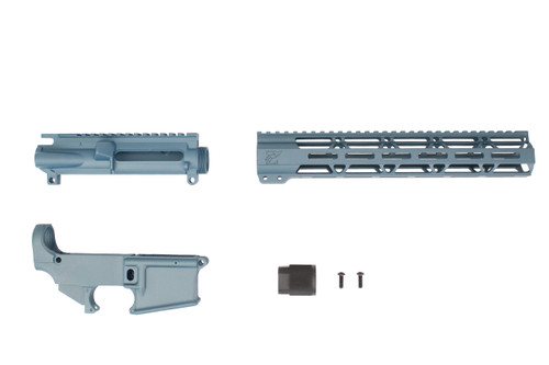 "TITANIUM BLUE CERAKOTE SET - UPPER RECEIVER / 80% LOWER RECEIVER / 12"" MLOK HANDGUARD"
