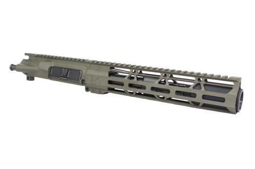 """ZAVIAR AR-15 7.5"""" 300AAC BLACKOUT OD GREEN NITRIDE / 10"""" HANDGUARD ASSEMBLED UPPER RECEIVER"""