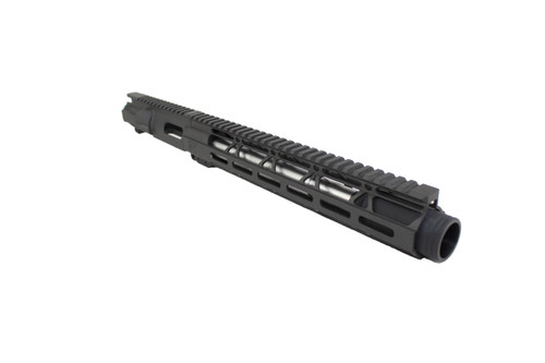 "40 S&W 9.5"" - 10.5"" Overall Stainless Steel Upper Receiver / 1:12 Twist / 12"" MLOK Handguard"