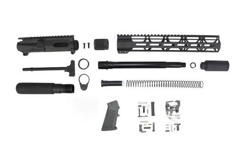"40 S&W 9.5"" - 10.5"" Overall Nitride Builder Kit / 1:12 Twist / 12"" MLOK Handguard"