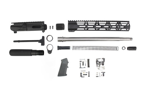 "40 S&W 16"" Overall Stainless Steel Builder Kit / 1:12 Twist / 12"" MLOK Handguard"