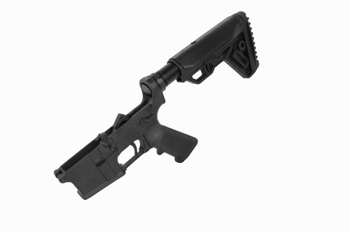 AR-15 Black Cerakote Complete Lower Receiver with Cobra Stock