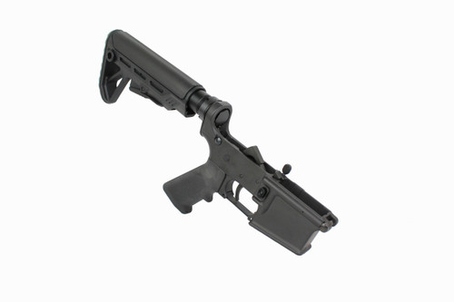 AR-15 Black Cerakote Complete Lower Receiver with Surge Stock