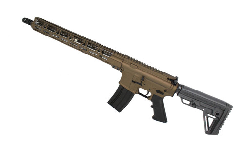 "5.56 Nato 'Operator Series' Burnt Bronze 16"" Nitride Complete Rifle / 1:9 Twist / 15"" MLOK Handguard"