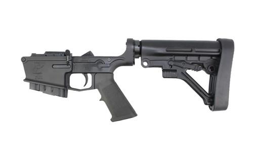 AR-10 Black Cerakote Complete Lower Receiver with Predator Stock / 10rd Magazine
