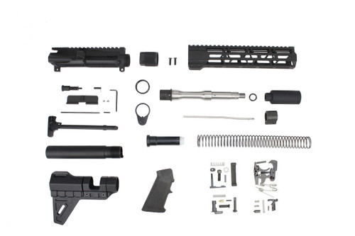 ".223 Wylde 'Operator Series' 7.5"" Stainless Steel Builder Kit / 1:7 Twist / 10"" MLOK Handguard"