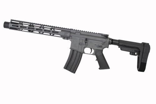 "5.56 Nato 'Operator Series' Sniper Grey 10.5"" Nitride Complete Pistol / 1:7 Twist / SBA3 Brace / 12"" MLOK Handguard"