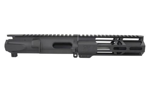 "9mm 'Stinger Series' 3.5"" - 4.5"" Overall Stainless Steel Upper Receiver / 1:10 Twist / 6.5"" MLOK Handguard"