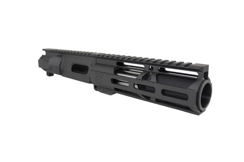 "9mm 'Stinger Series' 3.5"" - 4.5"" Overall Stainless Steel Upper Receiver / 1:10 Twist / 6.5"" MLOK Handguard"