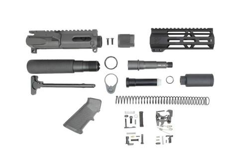 """9mm 'Stinger Series' 3.5"""" - 4.5"""" Overall Nitride Builder Kit / 1:10 Twist / 6.5"""" MLOK Handguard"""