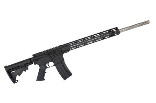 ".223 Wylde 'Operator Series' 24"" Stainless Steel Spiral Fluted Bull Barrel Complete Rifle / 1:8 Twist / 15"" MLOK Handguard"