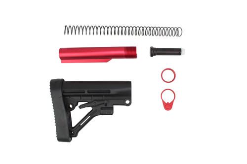 Zaviar Predator BS8 AR15 Style Butsttock Kit with Red Tube