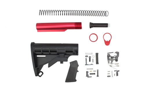 M4 Stock Kit with Red Tube and Lower Parts Kit