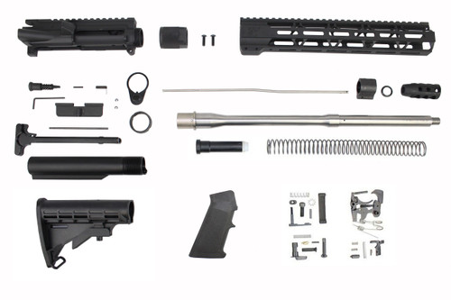 "5.56 Nato 'Operator Series' 16"" Stainless Steel Government Builder Kit / 1:7 Twist / 12"" MLOK Handguard"