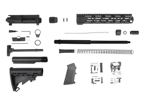 "5.56 Nato 'Operator Series' 16"" Nitride HBar Builder Kit / 1:8 Twist / 12"" MLOK Handguard / M4 Stock"