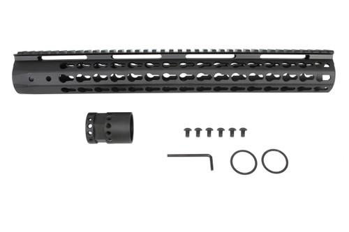 "AR-15 Black 15"" Multi Key Advantage Handguard"