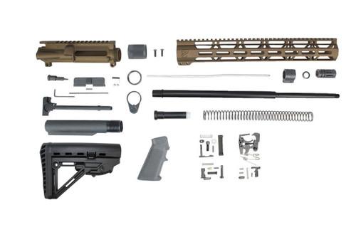 "6.5 Grendel Type II 'Recon Series' **Burnt Bronze** 20"" Nitride Builder Kit / 1:8 Twist Kit / 15"" MLOK Handguard/"
