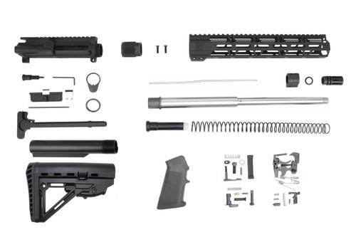 "7.62 x 39 'Wolverine Series' 16"" Stainless Steel Builder Kit / 1:10 Twist / 12"" MLOK Handguard"