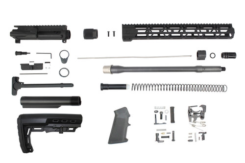 ".223 Wylde 'Operator Series' 16"" Nitride Match Grade Builder Kit / 1:8 Twist / 15"" MLOK Handguard"