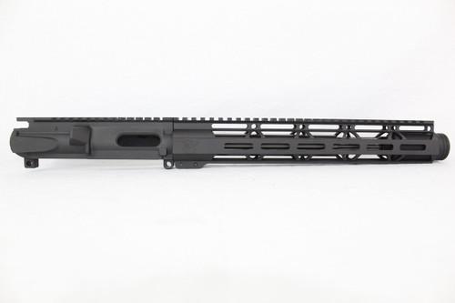 "Z9 'Stinger PDW' 9mm Assembled Upper Receiver | 10"" Nitride Barrel | 12"" M-LOK Handguard | Zaviar Flash Can Muzzle Device"