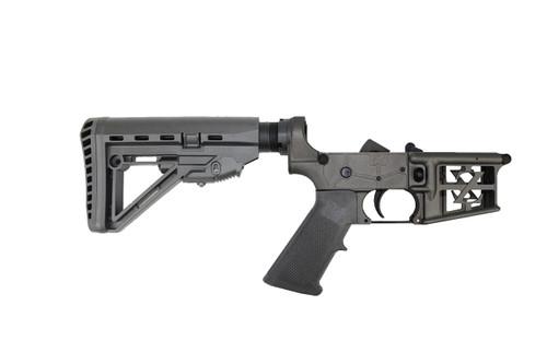 ZAVIAR AR-15 Black  Complete Skeletonized Lower Receiver w/ Hercules Stock