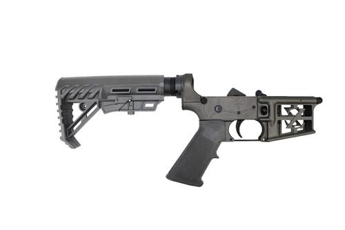 ZAVIAR AR-15 Black  Complete Skeletonized Lower Receiver w/ Poseidon Stock