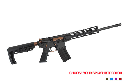 "5.56 Nato 'Operator Series' 16"" Government Complete Rifle / 1:8 Twist / 10"" MLOK Handguard / Splash Kit Color Option"